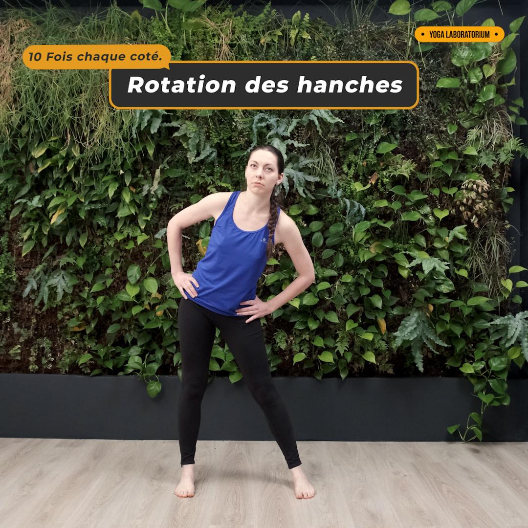 Exercice de rotation des hanches